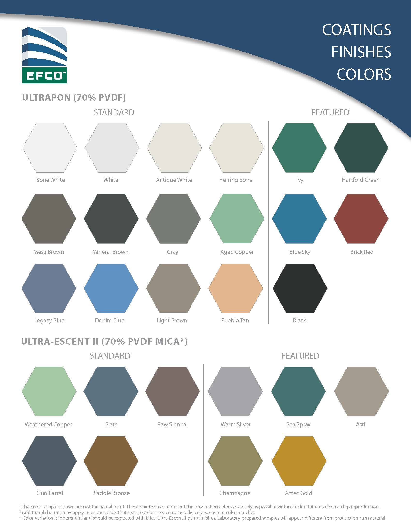 Color chart your efco sales representative has the knowledge and experience to assist you with finding the best selection of paint and coatings physical color chips nvjuhfo Gallery